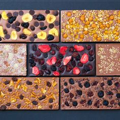 Fruit Lovers Chocolate Bars - Set Of 7 - YUM!