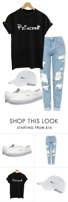 Untitled #4 by haybird917 on Polyvore featuring Topshop, Vans and NIKE