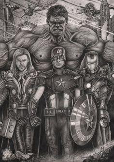 'The Avengers' graphite drawing by Pen-Tacular-Artist.deviantart.com on @deviantART