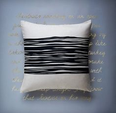 Spool Pillow in Raven Black   LINT and HONEY