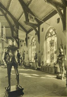The new Armor Hall at Wave Hill, Bashford Dean's private residence, completed and installed in 1930, two years after his death.