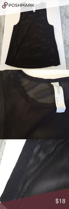 fe2157ae84e NWOT Black Mesh Activewear Top New without tags black active tank. 85%  Polyester