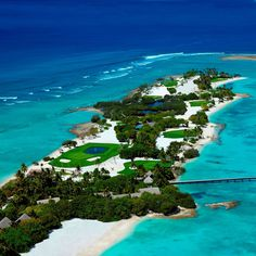 O campo de golfe em Shangri-la Villingili