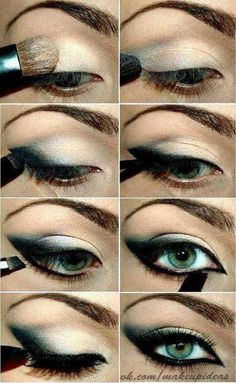 Intense Smoky eyes check out #Baobella for more #tips #tricks #beauty #makeup #concealer #baggyeyes #darkcircles #concealer #brighten #skin '#eyes #howto #apply #beginner #bigger #bottom #lashes