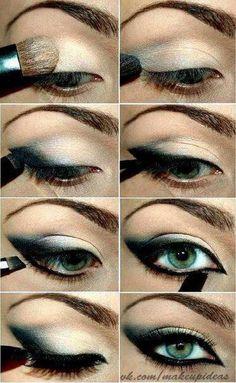 Intense Smoky eyes check out #Baobella for more #tips #tricks #beauty #makeup #concealer #baggyeyes #darkcircles #concealer #brighten #skin '#eyes #howto #apply #beginner #bigger #bottom #lashes