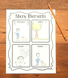 My kids had SO much fun planning their stories!  We planned a fairy tale as a class first, and then they got to make up their own fictional stories by first brainstorming each story element in this organizer. $