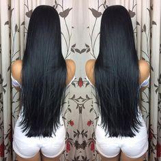 Long Black Hair, Very Long Hair, Dark Hair, Brown Hair, Sleek Hairstyles, Black Women Hairstyles, Wig Hairstyles, Hairstyle Men, Chelsea Houska Hair