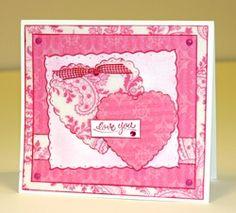 So simple & Cute ~ Scalloped Heart Card