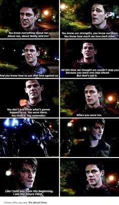 """Like I told you from the beginning. I am the Future Flash"" - Future Flash/Savitar and Barry #TheFlash ((I KNEWW IT!!))"