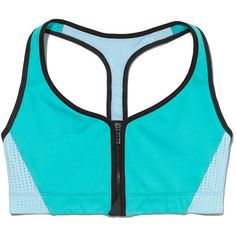 VS Sport The Player by Victoria's Secret Zip-front Sport Bra ($25) ❤ liked on Polyvore