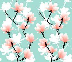magnoliatree fabric by youdesignme on Spoonflower - custom fabric