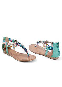 Women's Embellished rope sandal