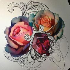 #tattoosketch свободный эскиз (отлично будет смотреться на бедре) . Желающие его набить, пишите в вк #rostra #rosesketch