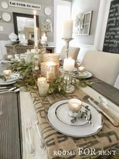 Mercury Glass Thanksgiving Tablescape | Rooms FOR Rent Blog
