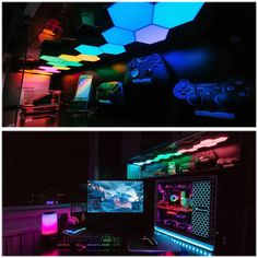 Boys Game Room, Game Room Basement, Kids Basement, Basement Storage, Basement Bathroom, Basement Ideas, Computer Gaming Room, Gaming Room Setup, Gaming Rooms