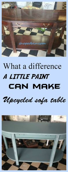 Just a little paint can transform an old drab side table into a shabby wonder!  Easy upcycle with a little paint!