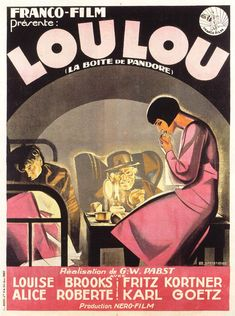 Réalisé par Georg Wilhelm Pabst (1929) Louise Brooks, Alice, Pandoras Box, Hooray For Hollywood, Old Hollywood Glamour, Hollywood Stars, Silent Film, Film Posters, Pandora Jewelry