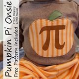 With Pi-Day coming up here in a few weeks, I thought I'd update my list of Pi themed crafts and creative fun. (Never heard of Pi Day. Fall Halloween, Halloween Crafts, Holiday Crafts, One Piece Clothing, Kid Clothing, Pumpkin Applique, Clothes Crafts, Sewing Clothes, Sewing Tutorials