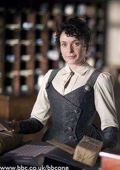 -Martha storeclerk vest and sleeve thingies
