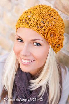 Emma Hat Crochet Pattern by - Mama, with 2 inch headband