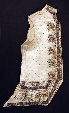 Waistcoat 1770-80, European, silk