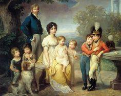 Stanislaw Kostka Zamoyski with his wife, Zofia (née Czartoryska), and their family