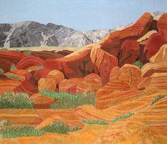 Art Quilt - Red Rock Canyon. Las Vegas