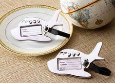 Airplane Luggage Tag perfect for destination weddings Wedding Favours Bridesmaids, Destination Wedding Favors, Creative Wedding Favors, Unique Wedding Favors, Bridesmaid Gifts, Wedding Gifts, Airplane Party, Airplane Travel, Candle Favors