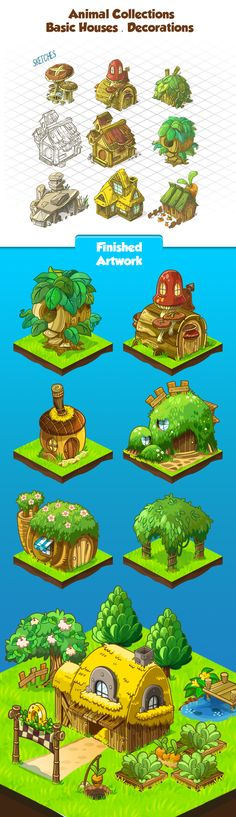 Animal Collections misc buildings https://www.behance.net/gallery/23054471/Animal-Collections