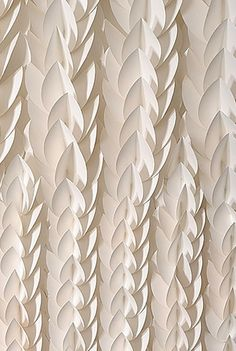 """Detail of paper installation """"Hedge"""""""