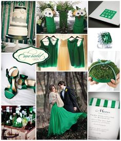 Emerald Green Wedding Theme  #coutureevents http://www.coutureeventssd.com