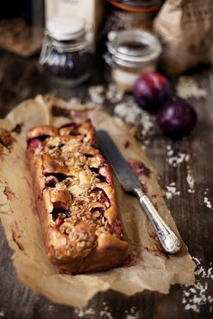 Yogurt Plum Cake.