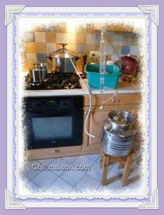 Organisation pour la distillation à la maison.