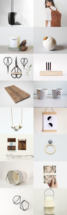 neat by Barbara on Etsy--Pinned with TreasuryPin.com Minimalist Design, Gift Guide, Place Card Holders, Etsy, Minimal Design