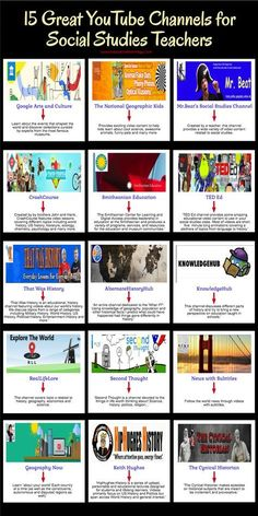 A Handy Infographic Featuring Some of The Best YouTube Channels for Social Studies Teachers