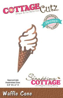The Scrapping Cottage -waffle cone CottageCutz