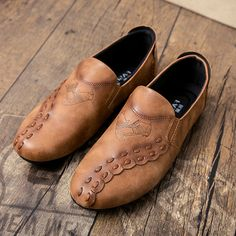 Brand Fashion Simple Shoes For Men,Spring&Autumn Male Casual Flat Footwear,Slip On Zapatillas Hombre Soft Driving Shoes Pattern