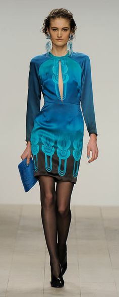 Holly Fulton | She loves fashion and glamour | Pretty woman in blue cocktail dress | celebrate her occasion with grey goose martini | the color story of blue | #thejewelryhut