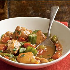 Chicken and Okra Stew | CookingLight.com #myplate #protein #vegetables