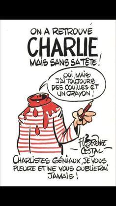 Caricature de Florence Cestac dans le quotidien Libération après l'attentat contre Charlie Hebdo. #Pauline