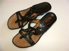 """Beautiful pair of sandals    From CLARKS ~ Artisan    Size: 7 M    Color: Dark Brown    Heel is about 2.5"""" in back    Excellent condition, used very little"""