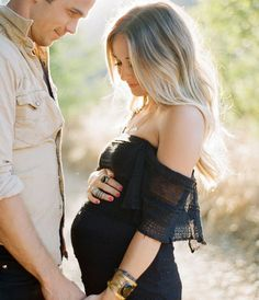 Maternity Photography - Wild Whim Photography. look at how he's looking at her. omg.