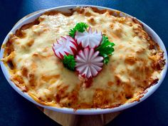Pasta with chicken and cheese Kebab, Pasta Casserole, Donia, Chicken Pasta, Hummus, Mashed Potatoes, Pudding, Cheese, Ethnic Recipes