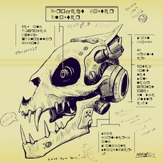 Gaster Blaster Schematics (feat. Sans) : Undertale