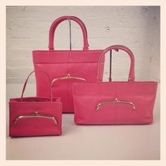 Various totes in pink circa mid-1960s #ThrowbackThursday #tbt