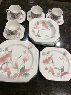 4 mikasa china travertine rose l2111 pattern 85 soup bowls ebay 20 piece set mikasa silk flowers service for four mightylinksfo