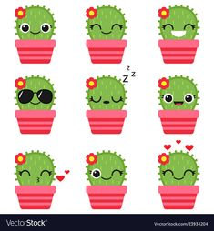 Cute cactus in pink pot Royalty Free Vector Image – Cactus Free Vector Images, Vector Free, Kaktus Illustration, Cactus Vector, Diy Crafts To Do, Christmas Ad, Cactus Y Suculentas, Emoticon, Christmas Decorations