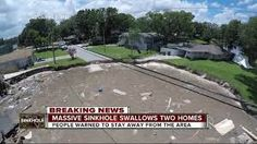 Sinkhole swallows 2 homes in Land O' Lakes neighborhood; cleanup could take months The Neighbourhood, Swallows, Lakes, Outdoor Decor, Home, The Neighborhood, Swallow, House, Barn Swallow