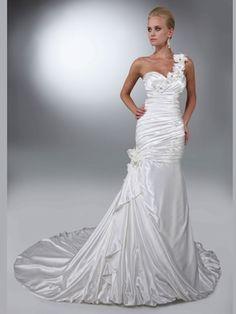 Mermaid Single Floral Strap Wedding Gown Davinci Bridal 50094|DimitraDesigns.com