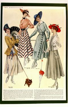 AUG.1916 THE DELINEATOR MAGAZINE FASHION PLATE
